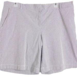 Tommy Hilfiger Shorts Sz 14 Gray White Pinstripe